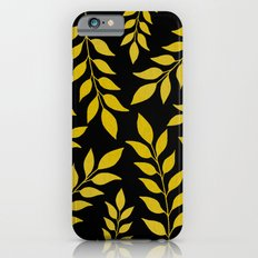 Gold Leaves Pattern Slim Case iPhone 6s