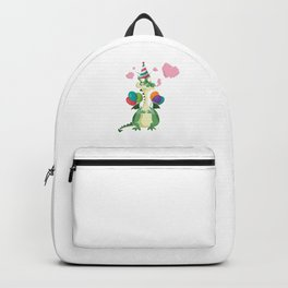 Funny Dragon Birthday Party Balloons Backpack