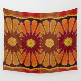 Orange flower pattern daisy Wall Tapestry