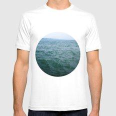 Nautical Porthole Study No.1 White MEDIUM Mens Fitted Tee
