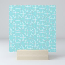 Square Pattern Mint Mini Art Print