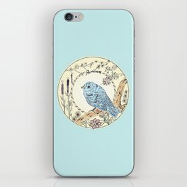 Blue Bird in Spring (Inspiration Antonio Vivaldi) iPhone Skin