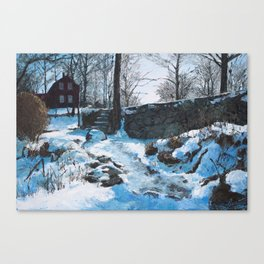 Winter at Weir Canvas Print