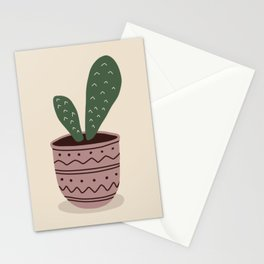 Cactus House Plant in Pot Stationery Cards