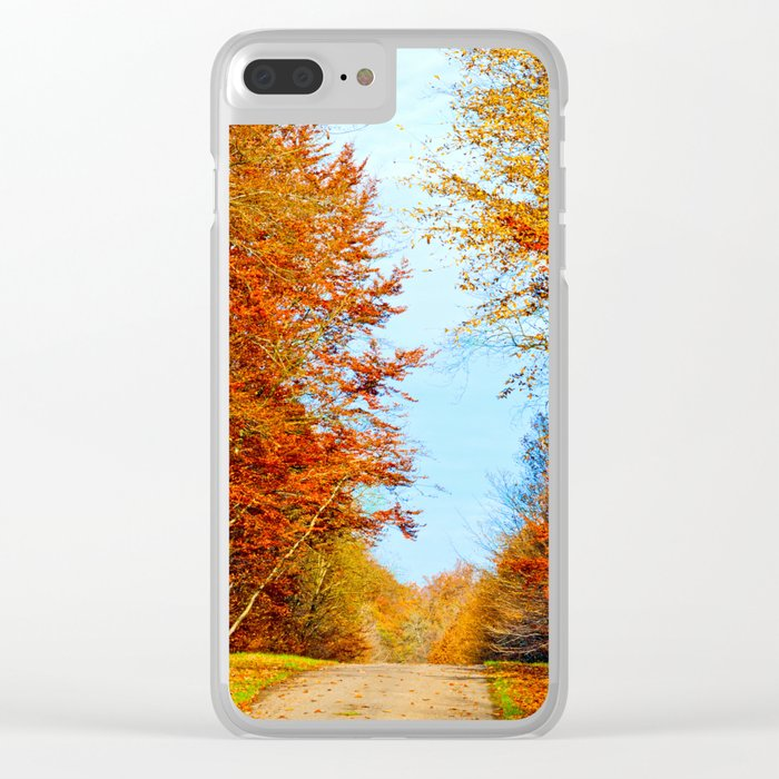 Through the fall Clear iPhone Case