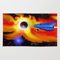 spaceship Area & Throw Rugs featuring Spaceship by JT Digital Art