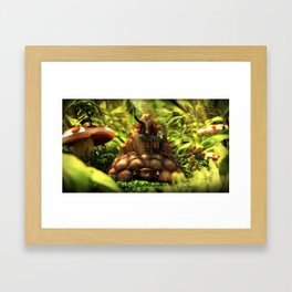 Moving forward, slowly. Framed Art Print