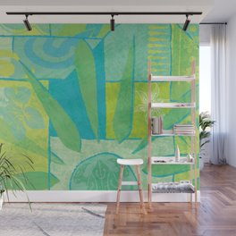 Hawaiian Pacific Tapa Design Wall Mural