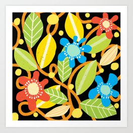 Abstract Floral Design Art Print