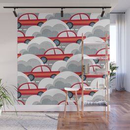 Papercut Cars Wall Mural