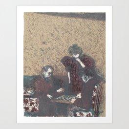 A Game of Checkers (La partie de dames) Edouard Vuillard (1868 - 1940) Art Print