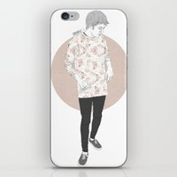 niall iPhone & iPod Skins featuring Floral Niall by Londonhazz