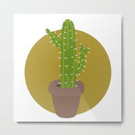 Simple Cactus Metal Print