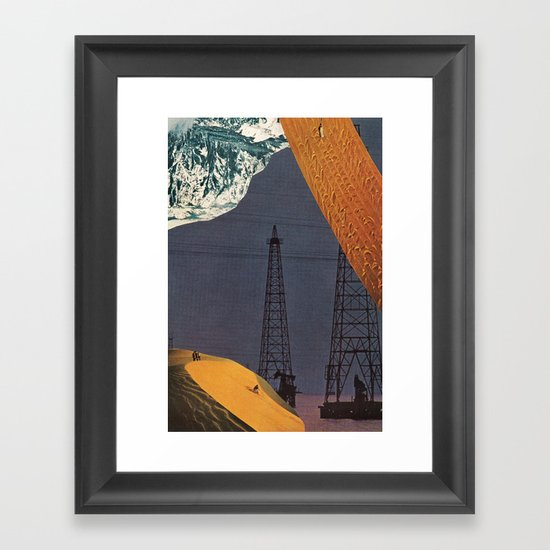 gold dream Framed Art Print