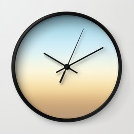 beach color gradient Wall Clock