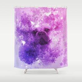 French Bulldog Christmas Holidays Shower Curtain