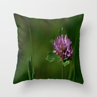 clover Throw Pillows featuring Clover by Dorothy Pinder