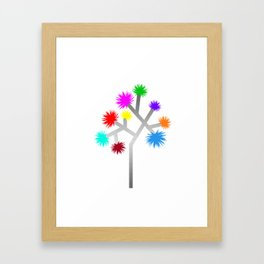 Joshua Tree Pom Poms by CREYES Framed Art Print
