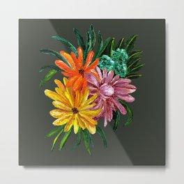 Colorful Daisies Metal Print