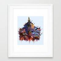 neon genesis evangelion Framed Art Prints featuring Evangelion by ururuty