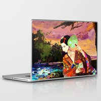 kitsune Laptop & iPad Skins featuring Kitsune by Sandpaperdaisy