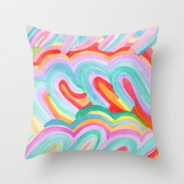 Groovy Swoops Throw Pillow