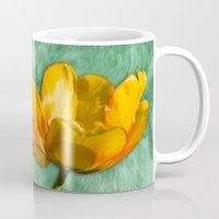 tulip Mugs featuring tulip  by Karl-Heinz Lüpke