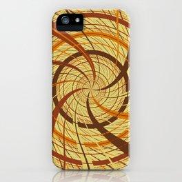 Brown vortex iPhone Case