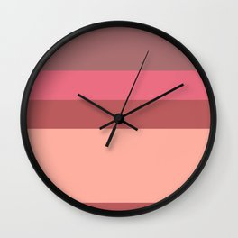 Color Stripes - Earthy Purples Wall Clock
