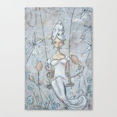 Silver Belle Canvas Print