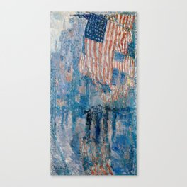 The Avenue in the Rain by Childe Hassam, 1917 Canvas Print