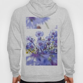 Cornflower and chamomile many flowers Hoody
