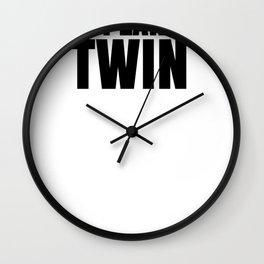 Fun Twins The Planned Twin Wall Clock