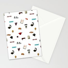 Pattern of Klaine things Stationery Cards