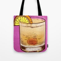 drink Tote Bags featuring DRINK  by MR. VELA