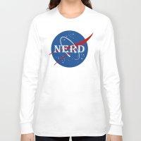 nerd Long Sleeve T-shirts featuring Nerd by jekonu