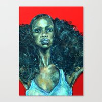 power Canvas Prints featuring POWER by Iconic Arts