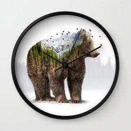 Wild I Shall Stay | Bear Wall Clock