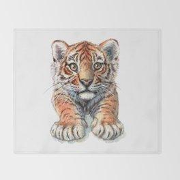 Playful Tiger Cub 907 Throw Blanket