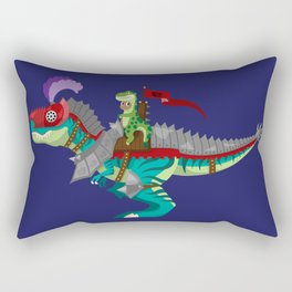 Dino Knight T-Rex Rectangular Pillow