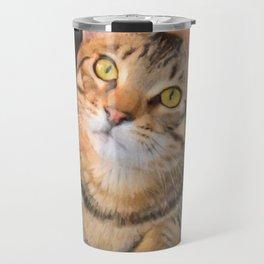 Cute Bengal Kitty Travel Mug