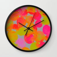 community Wall Clocks featuring COMMUNITY by Rebecca Allen