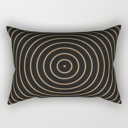 Gold Sphere Design Rectangular Pillow