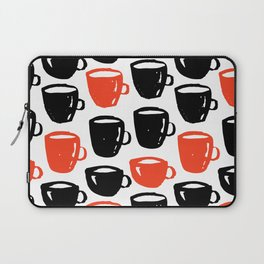 Quirky cool coffee cups pattern Laptop Sleeve