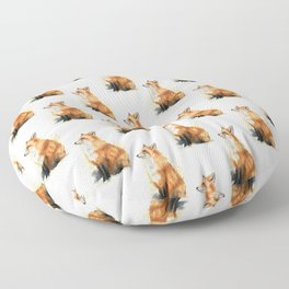 Red Fox Pattern Floor Pillow