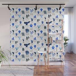Blue cacti Wall Mural