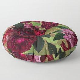 Vintage & Shabby Chic - Botanical Roses Summer Garden   Floor Pillow