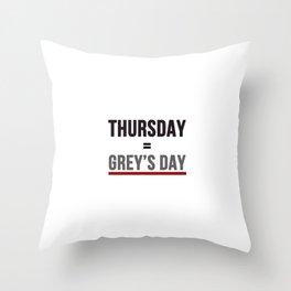 Grey's Day Throw Pillow