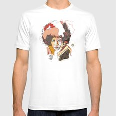 Minnie Riperton - Soul Sister | Soul Brother MEDIUM White Mens Fitted Tee