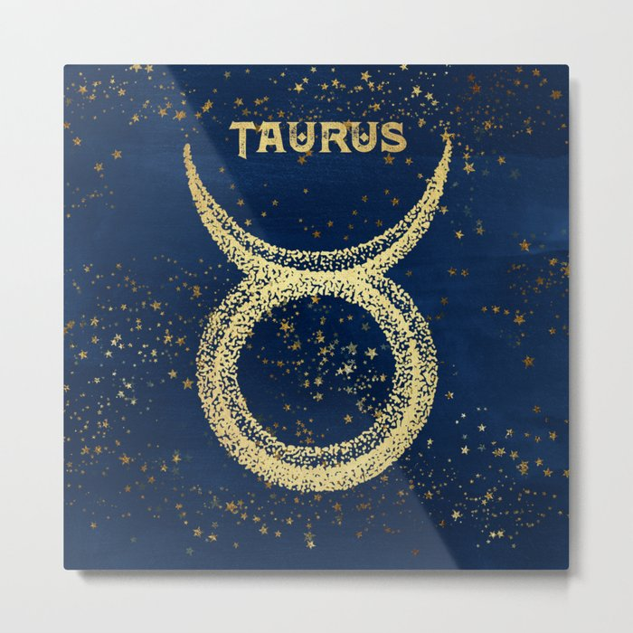 Taurus Zodiac Sign Metal Print